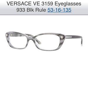 Versace Eyeglass Frame 3159 933 Black Rule